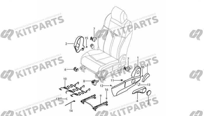 Сиденье водителя ткань - механизмы и ручки DongFeng AX7