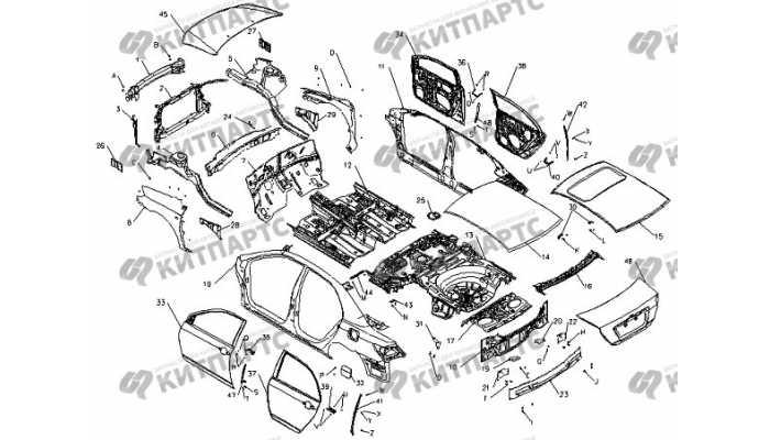 Кузов в сборе BYD F3 (F3R)