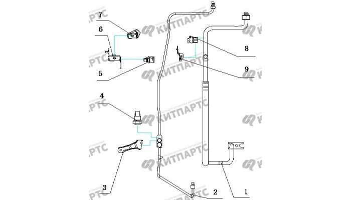 Трубки кондиционера BYD F3 (F3R)