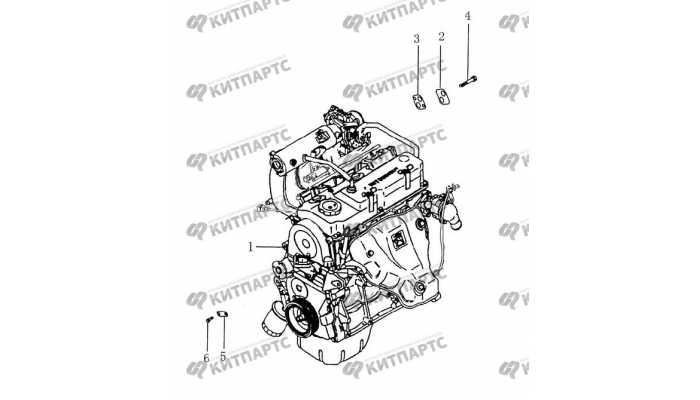 Двигатель 1,5 L BYD F3 (F3R)
