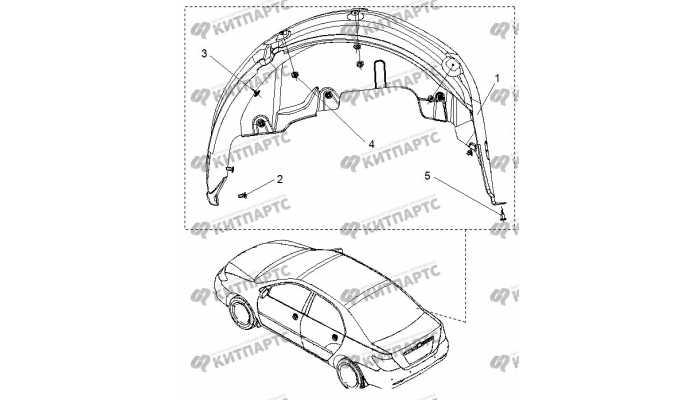 Локер задний правый BYD F3 (F3R)