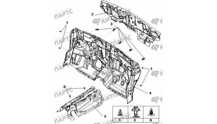 Панель моторного отсека BYD F3 (F3R)