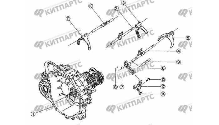 Вилки переключения передач BYD F3 (F3R)