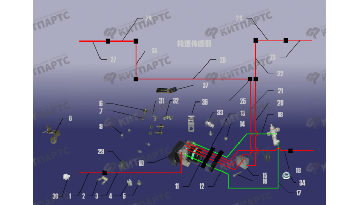 Тормозные трубопроводы Chery Tiggo (T11)