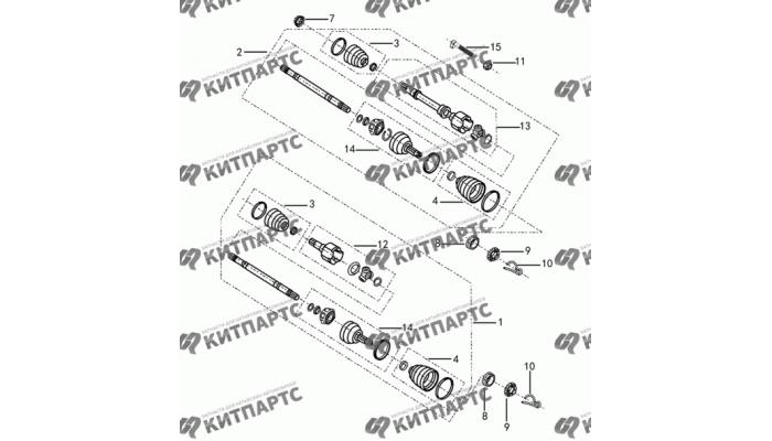 Привод колеса АКПП Dong Feng S30