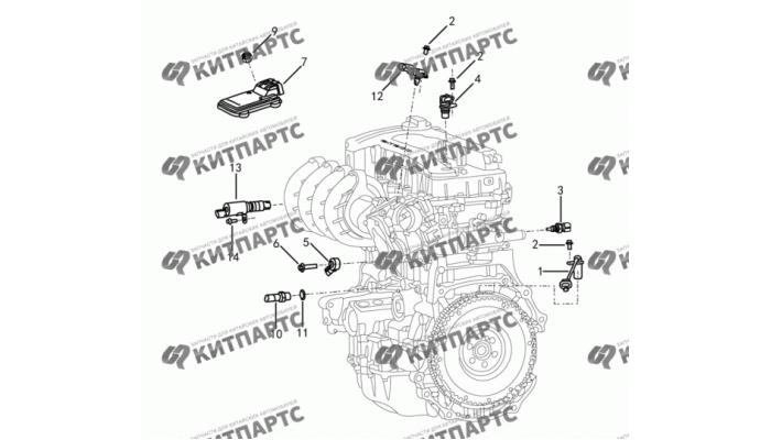 Электронные компоненты двигателя Dong Feng H30 Cross