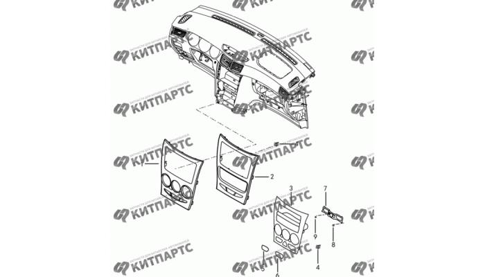 Центральная консоль панели приборов Dong Feng H30 Cross