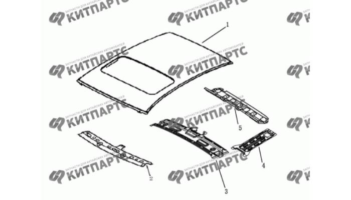 Панель крыши с люком Dong Feng H30 Cross