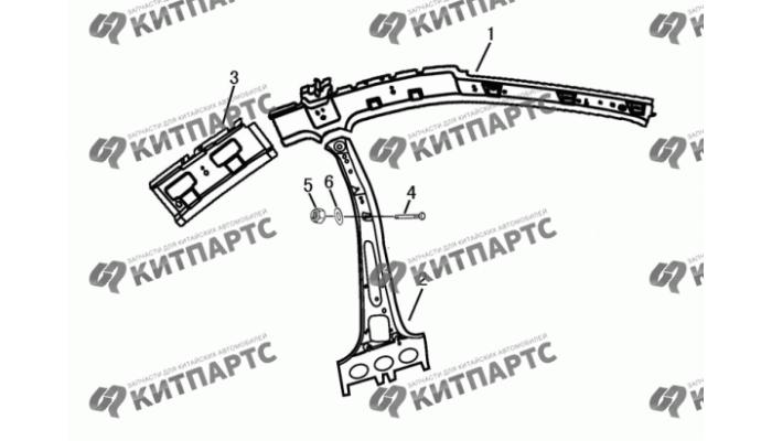 Стойки панели кузова передние Dong Feng H30 Cross
