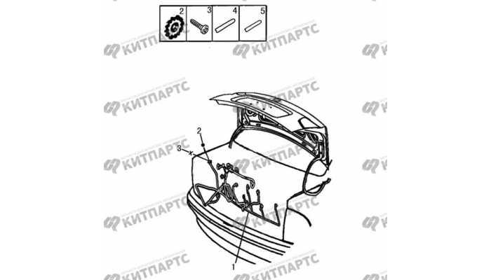 Жгут проводов багажника Dong Feng S30