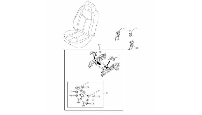 Электропривод передних сидений FAW Besturn B50