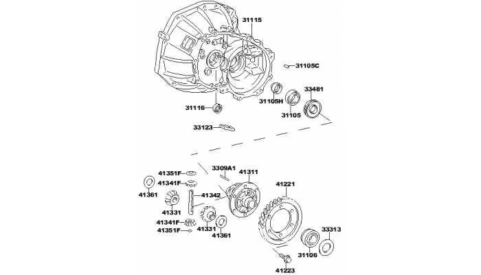 Корпус КПП (передняя часть) и дифференциал FAW V5