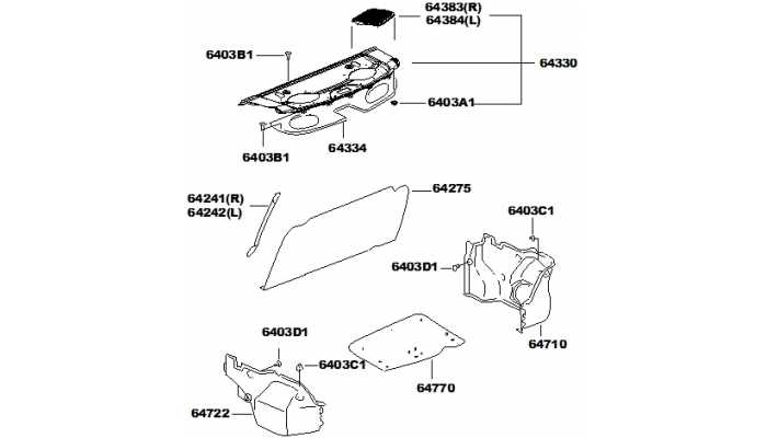 Панель и обивка багажника FAW V5