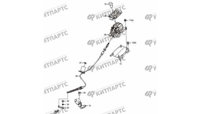 Рычаг переключения передач (АКПП) FAW Besturn X80