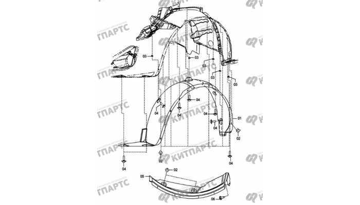 Арка колеса и локеры FAW Oley