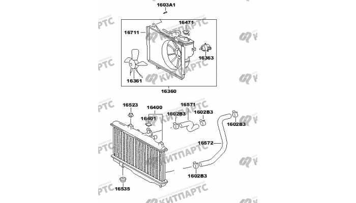 Радиатор охлаждения двигателя FAW V2