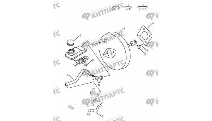 Цилиндр главный тормозной (4G18, МКПП) Geely Emgrand EX7