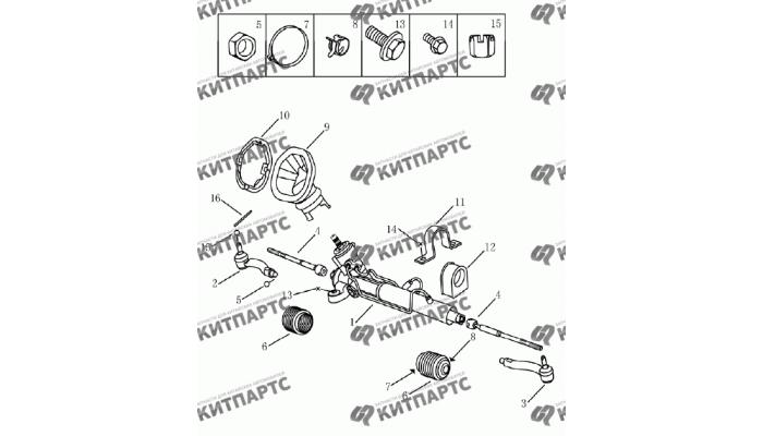 Рейка рулевая Geely Emgrand (EC7)
