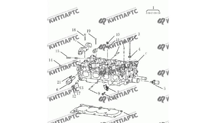 Головка блока цилиндров (1.8 L) Geely Emgrand (EC7)