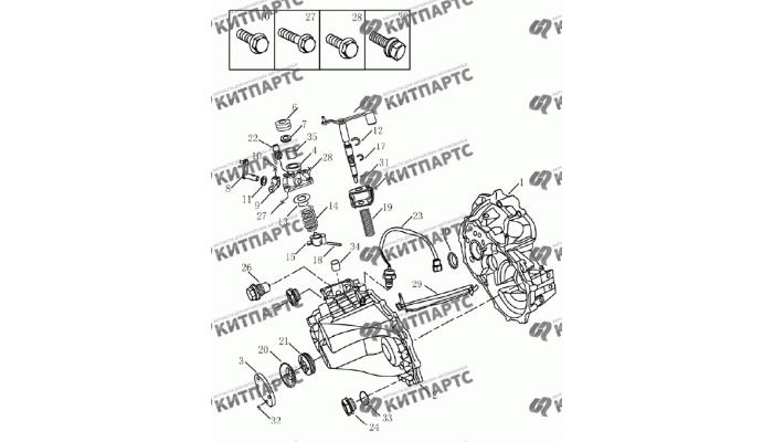 Корпус коробки передач Geely Emgrand (EC7)