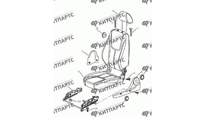 Сиденье водительское (механика) Geely Emgrand (EC7)