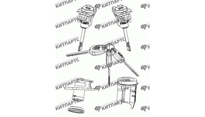 Ключи и личинки Geely MK