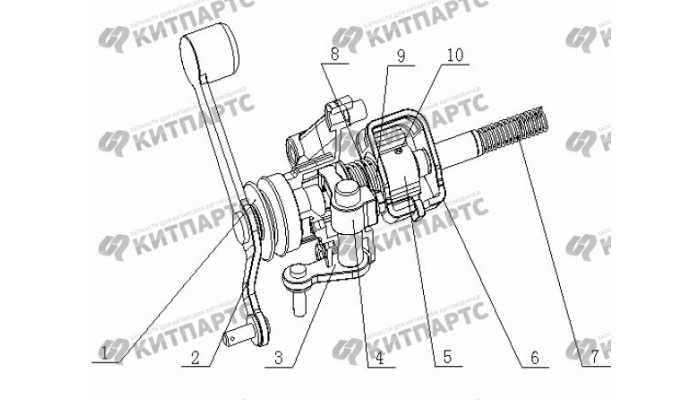 S160 Механизм выбора передач Geely Otaka (CK)