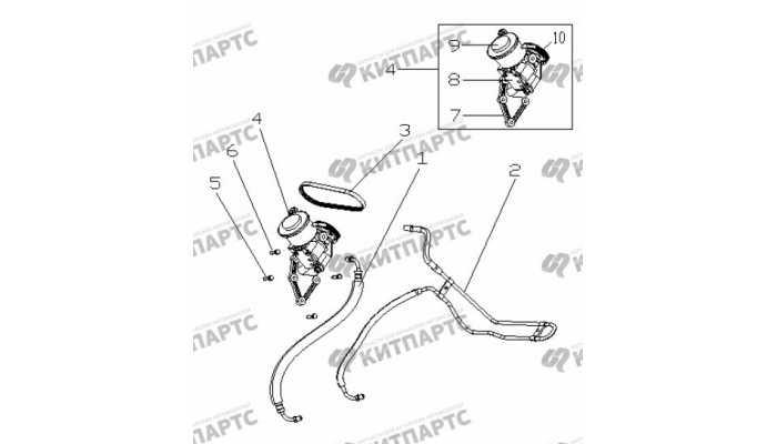 Трубки гидроусилителя руля Geely Otaka (CK)